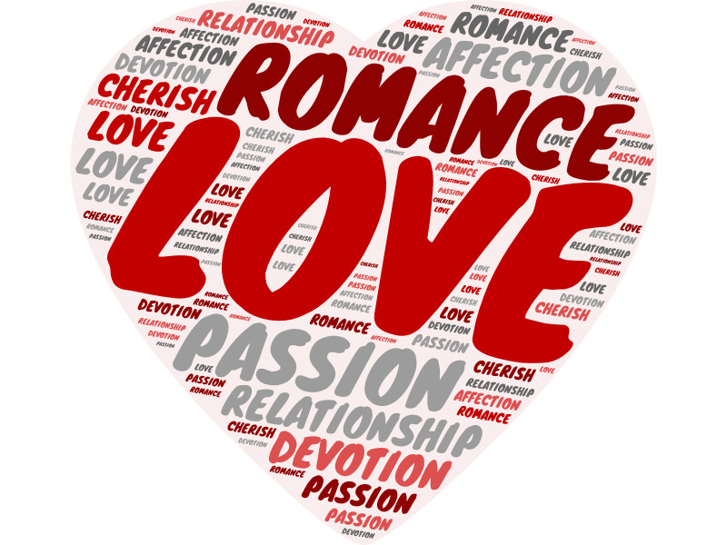 This Presentation Clipart shows a preview of Love Word Cloud Heart