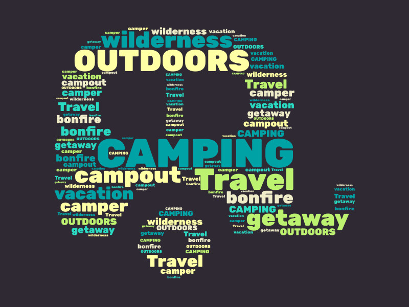 This Presentation Clipart shows a preview of Camper Word Graphic Generator