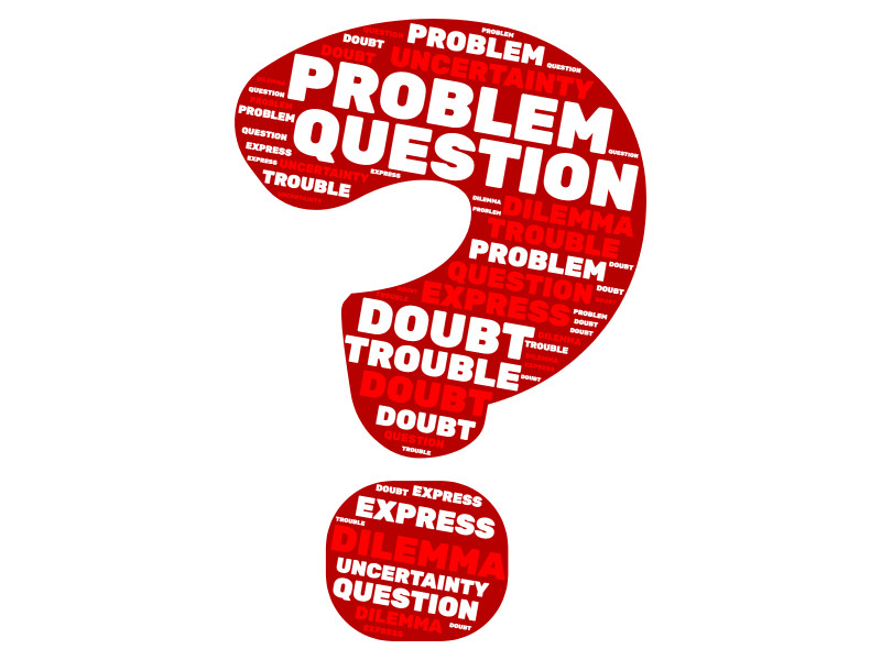 This Presentation Clipart shows a preview of Question Problem Word Cloud