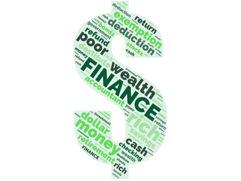 This Presentation Clipart shows a preview of Financial Word Cloud