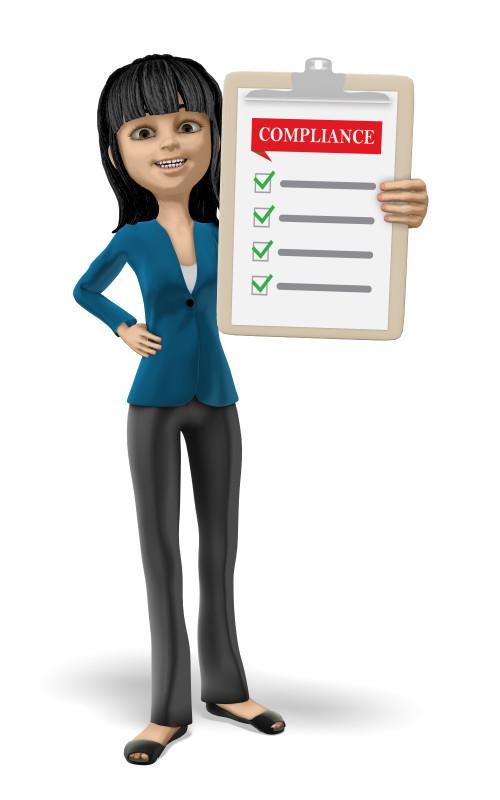 Clipart - Businesswoman Clipboard Compliance