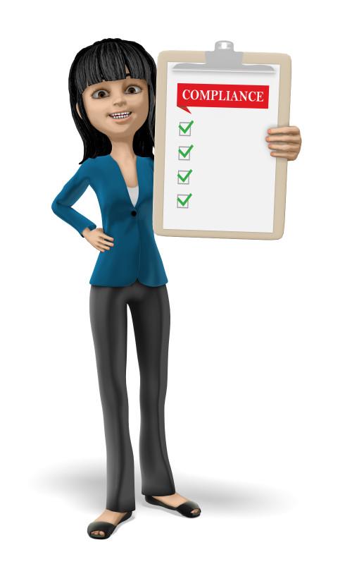 Clipart - Businesswoman Clipboard Compliance Blank
