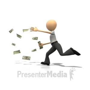 ID# 1213 - Money Chase - Presentation Clipart
