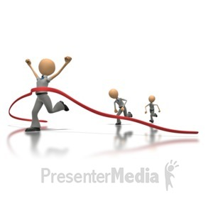 ID# 1255 - Business Race  - Presentation Clipart