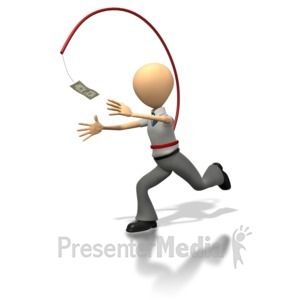 ID# 1267 - Pursuit Of Money - Presentation Clipart