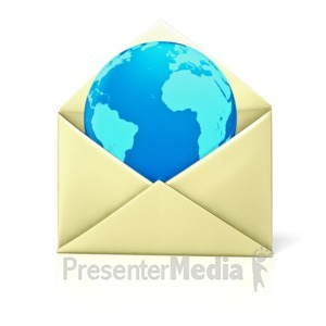 ID# 1300 - Envelope Open World - Presentation Clipart