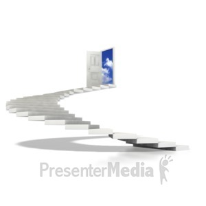 ID# 1309 - Stairs Spiral To Sky  - Presentation Clipart