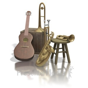 ID# 1310 - Old Instruments  - Presentation Clipart