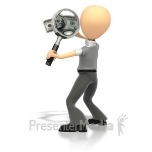 ID# 1315 - Money Examination  - Presentation Clipart