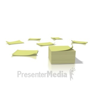 ID# 1325 - Yellow Notes - Presentation Clipart