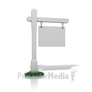 ID# 1345 - Real Estate Sign Blank - Presentation Clipart