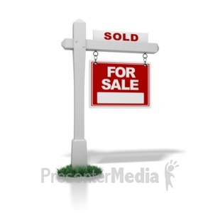 ID# 1346 - Real Estate Sign Sold - Presentation Clipart