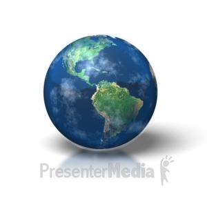 ID# 1349 - Simple Earth - Presentation Clipart