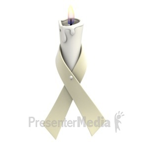 ID# 1369 - Pearl Ribbon Candle - Presentation Clipart