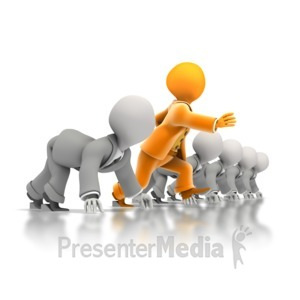 ID# 1388 - Business Race Head Start - Presentation Clipart