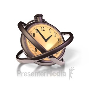 ID# 1389 - Old Pocket Watch - Presentation Clipart