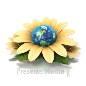 ID# 1394 - Earth Flower - Presentation Clipart