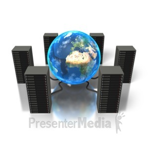 ID# 1395 - World Servers - Presentation Clipart
