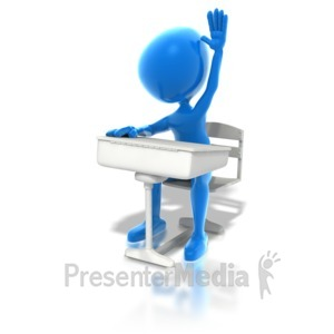 ID# 1402 - Blue Student - Presentation Clipart
