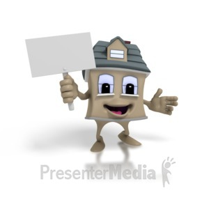 ID# 1409 - House Holding Sign - Presentation Clipart