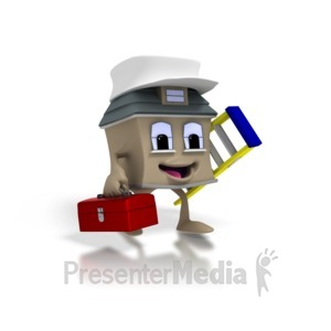 ID# 1410 - Home Construction - Presentation Clipart