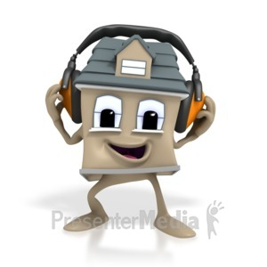 ID# 1414 - House Headphone - Presentation Clipart