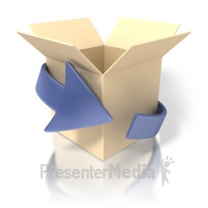 ID# 1418 - Outside The Box - Presentation Clipart