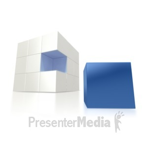 ID# 1420 - Missing Blue Piece - Presentation Clipart