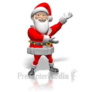 ID# 1465 - Santa Sign Showing  - Presentation Clipart