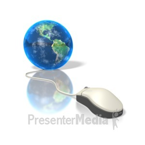 ID# 1471 - Global Mouse - Presentation Clipart