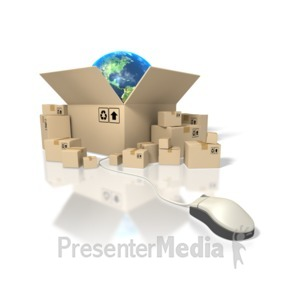 ID# 1476 - Global Shipping - Presentation Clipart