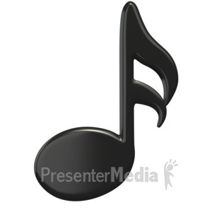 ID# 1509 - Music Sixteenth Note - Presentation Clipart