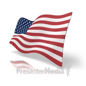 ID# 1516 - Usa Flag Perspective - Presentation Clipart