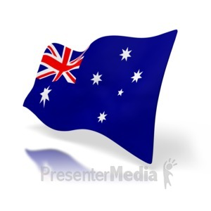 ID# 1518 - Australia Flag Perspective - Presentation Clipart