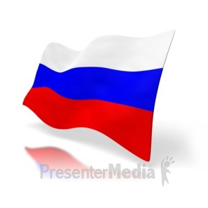 ID# 1523 - Russia Flag Perspective - Presentation Clipart
