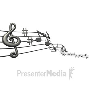 ID# 1525 - Music Notes Sheet - Presentation Clipart