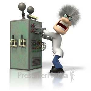 ID# 1536 - Mad Scientist Machine - Presentation Clipart