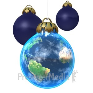 ID# 1547 - Earth Ornament - Presentation Clipart