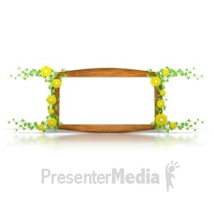 ID# 1594 - Flower Sign - Presentation Clipart