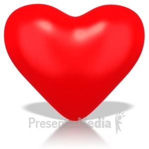 ID# 1595 - Single Heart - Presentation Clipart