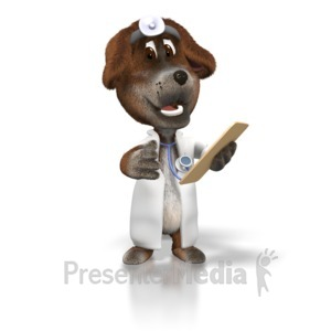 ID# 1640 - Dog Veterinarian - Presentation Clipart