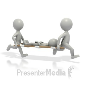 ID# 1645 - Doctors Carrying Patient - Presentation Clipart