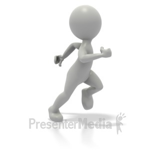 ID# 1648 - Single Stick Figure Runner - Presentation Clipart