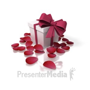 ID# 1657 - Valentines Day Present - Presentation Clipart