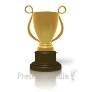 ID# 1716 - Golden Trophy Cup - Presentation Clipart