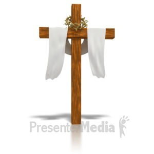 ID# 1730 - Clothed Easter Cross  - Presentation Clipart