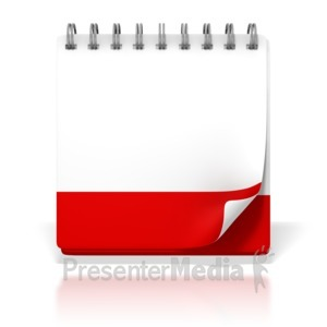 ID# 1742 - Blank Office Desk Calendar - Presentation Clipart