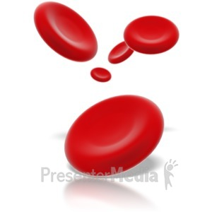 ID# 1744 - Red Blood Cells - Presentation Clipart