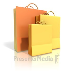 ID# 1756 - Three Shopping Bags - Presentation Clipart