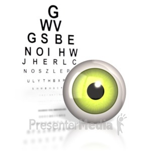 ID# 1775 - Optometrist Eye Chart  - Presentation Clipart